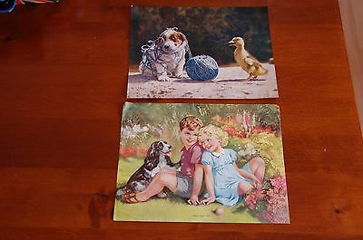 Vintage Ideal Series Calendar Pictures Dogs