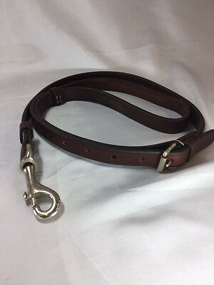 "40"" x 3/4"" Leather English Lead Rein. Made in England***Free USA Shipping***"