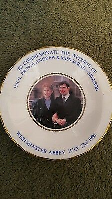 ** REDUCED** small commerative plate to forwedding of HRH Andrew & Sarah Ferguso