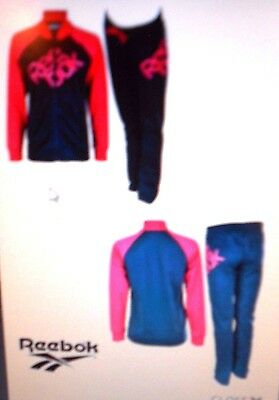 REEBOK NAVY/PINK GIRLS TRACKSUIT Age 16 YEARS NEW WITH TAGS