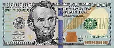 100 Gospel Tracts! Lincoln Million Dollar Novelty Bill