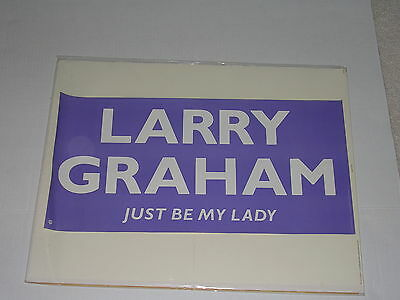 "LARRY GRAHAM WB Promo Poster GRAHAM CENTRAL STATION ""JUST BE MY LADY"""