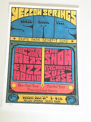 SEE THE SHOW YELLOW SPRINGS STREET FAIR Skate Concert Poster Signed & Numbered
