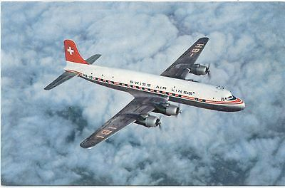 Airline Issue Postcard Swiss DC6