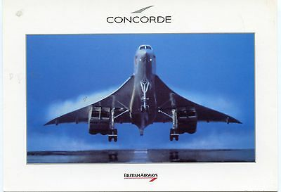 Airline Issue Postcard BA Concorde