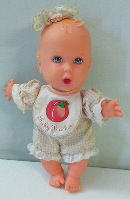"""Gerber Toy Biz Baby Applesauce Doll 1996 8"""" Doll Red Checkered Outfit []"""