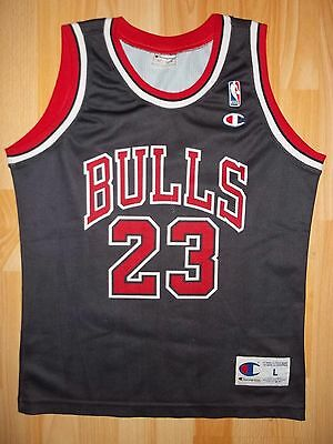 vintage Champion Chicago Bulls Michael Jordan NBA jersey size youth L LARGE