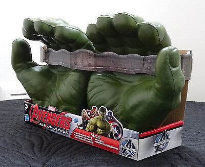 Hasbro MARVEL AVENGERS AGE OF ULTRON HULK GAMMA GRIP FISTS Hands Gloves Cosplay