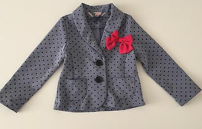 H&M Blazer With Pink Bow Age 3-4 Years