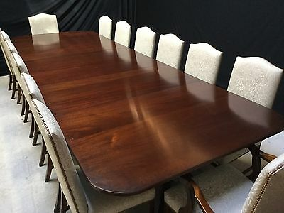 13.8ft HARRODS DESIGNER REGENCY BRAZILIAN MAHOGANY TABLE PRO FRENCH POLISHED