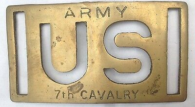 US Army 7th Cavalry Brass Vintage Belt Buckle American Vintage Classic Retro