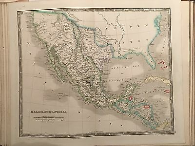 1844 Teesdale General Atlas Of The World 47 Maps Including Texas Republic