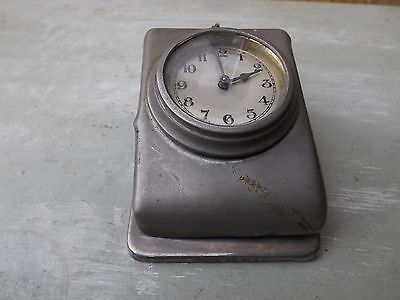 vintage old metal clock miltary? 1930s? 1940s? classic car? travel ?