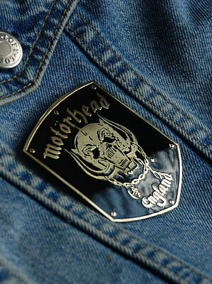 MOTORHEAD England Engraved Brass Badge Patch Pin, Collector's Grade