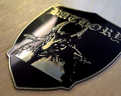 BATHORY Goat Engraved Brass Badge Patch Pin, Collector's Grade