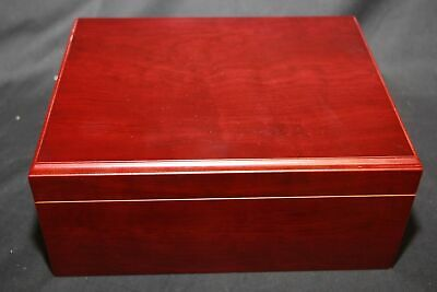 Cherry Colored Cigar Humidor Hi-Gloss 100ct