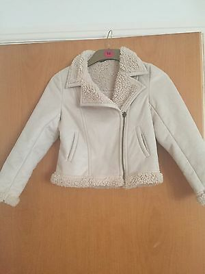 Gorgeous Girls Cream Suede Type jacket, George, age 10-11, VGC