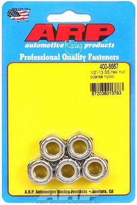 """ARP 1//2/""""-13 SS Coarse Nyloc 9//16 Hex Wrenching,Stainless Nut Kit 400-8667 *"""