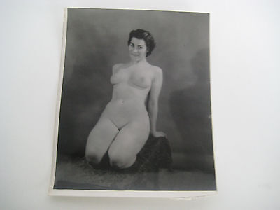 Lot E61 Vtg 1940s - 1950s VINTAGE PRINT Nude Erotic Pin-Up Photograph SMALL SIZE