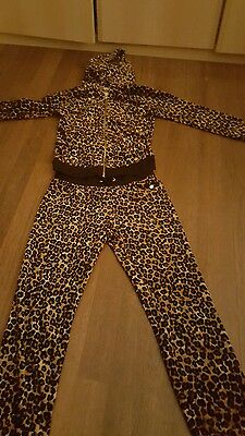 Girls XL Juicy Couture Jogging Suit Leopard Print