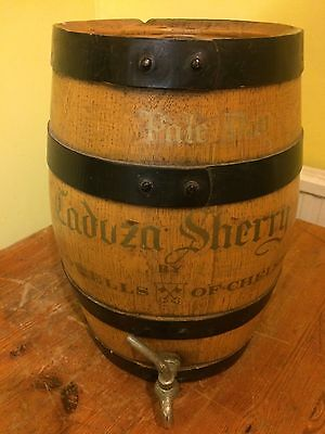 Sherry Barrel Wooden With Glass Decanter