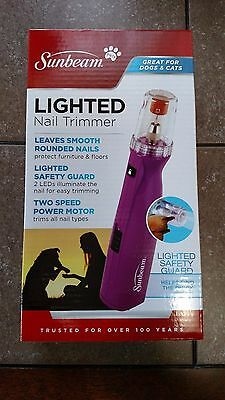 Sunbeam Pets Lighted Nail Trimmer For Dogs And Cats