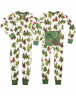 Lazy One Flapjacks Child Kids Christmas No Peeking Holiday PJ Pajamas New