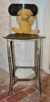 Original 1930s Machinists factory steel Chair/Stool from Fox Factory Wellington