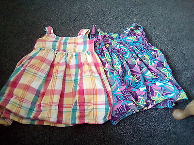 2x Girls Baby Dresses Age 6-9 months