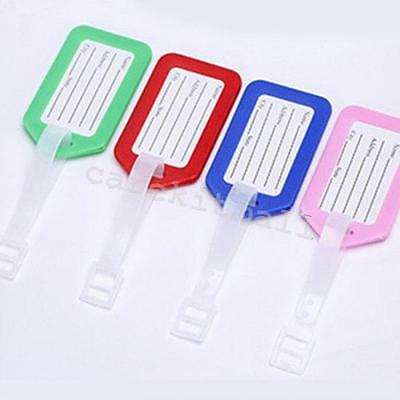 10pcs Travel  Baggage Luggage Bag Tag Name Address ID Label case Checked tags ca