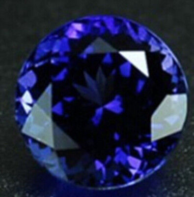 Blue Tanzanite 7.39ct Unheated 12mm Top Round Shape AAAA+Loose Gemstones