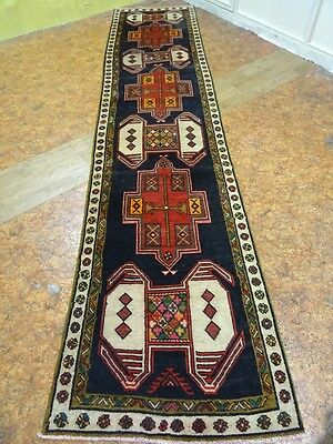 "Cr.1930 Antique Caucasian Meshkin Persian Exquisite  Rug 3' 2"" x 13' 1"""