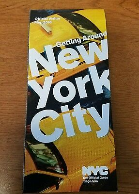 Official New York City NYC Visitor Tourist Map Guide 2016 Edition-Free Shipping