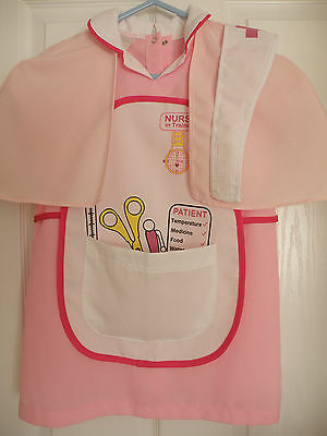 Fancy Dress Girls Nurse Outfit Size 5-6yrs,  height up to 116cm