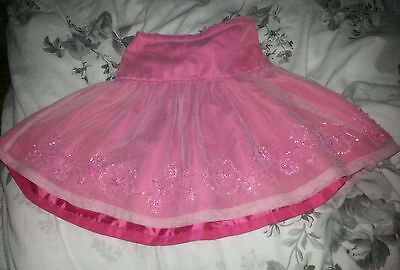 Girls party skirt n beaded flowers,3 yrs, satin underneath,pretty for occasion