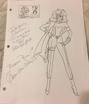 RARE OOAK Jem and the Holograms Pizzazz of the Misfits Signed Production Sheet