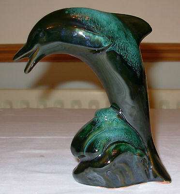 Blue Mountain Pottery Dolphin Ornament Made In Canada