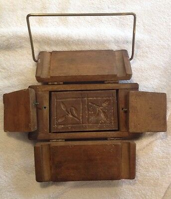 Antique Butter Mold Dovetailed Ass( Very Rare) C 1900 Ayers