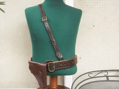 Italian Royal Army Officer WWII SB belt with M35 holster exc. repro new size XL