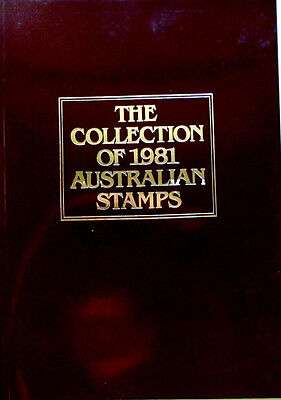 COLLECTION OF 1981 AUSTRALIAN STAMPS 38-Pg BOOK - IN EXCEL COND - 42 MINT STAMPS