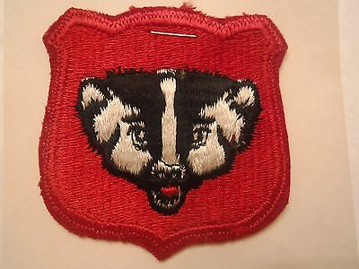 Wisconsin State U. S. Army National Guard Embroidered Military Patch