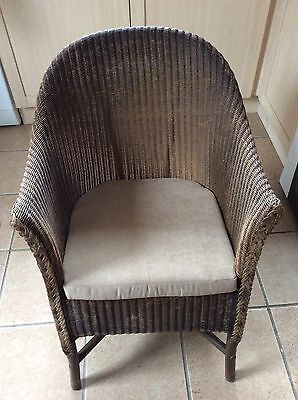 W. Lusty & Sons Gold Lloyd Loom Chair With Cushion