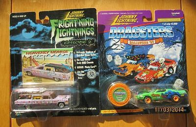 Johnny Lightning Halloween '97 Scream Machine & Frightning Lightning '99 NOC
