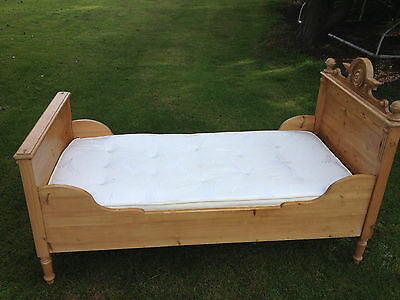 Beautiful Antique Pine Sleigh Bed
