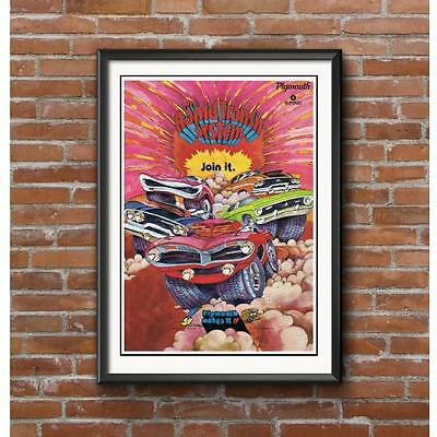 Mopar Rapid Transit Promotional Poster - Cuda GTX Duster Road Runner Muscle Cars