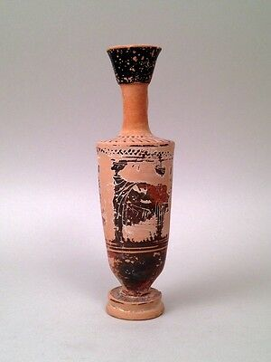 Wonderful Greek terracotta black figure Lekythos