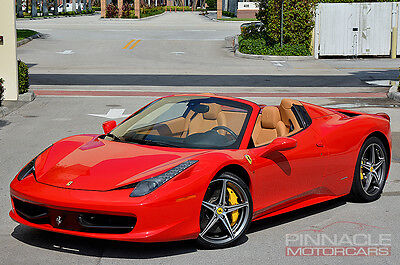 2012 Ferrari 458 Spider! Red/Tan! Great Options! $313,716 MSRP!  2012 Ferrari 458 Italia Spider! Low Miles! Red/Tan! Loaded! $313,716 MSRP! WOW!