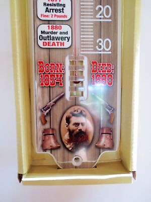 NED KELLY 1/2 Metre Thermometer - Man Cave Sign Pool Room Kitchen Shed Sign