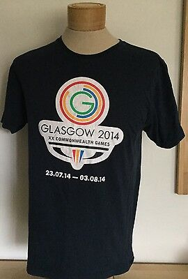 Glasgow Commonwealth Games 2014 Official Retail Crew T Shirt S