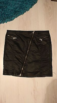 Women's small waxed leather look skirt by EMP